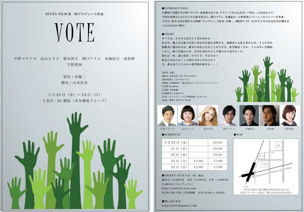 SEVEN FILM 第一回プロデュース作品「VOTE」